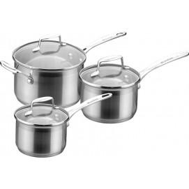 Set de 3 casseroles avec couvercle Impact